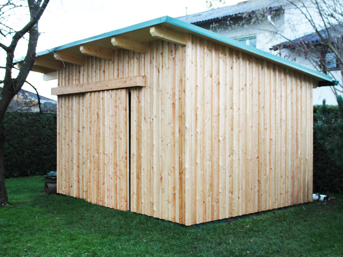 Lappi lappi holzbau aus der steiermark gartenhaus - Gartenhaus mit holzlager ...
