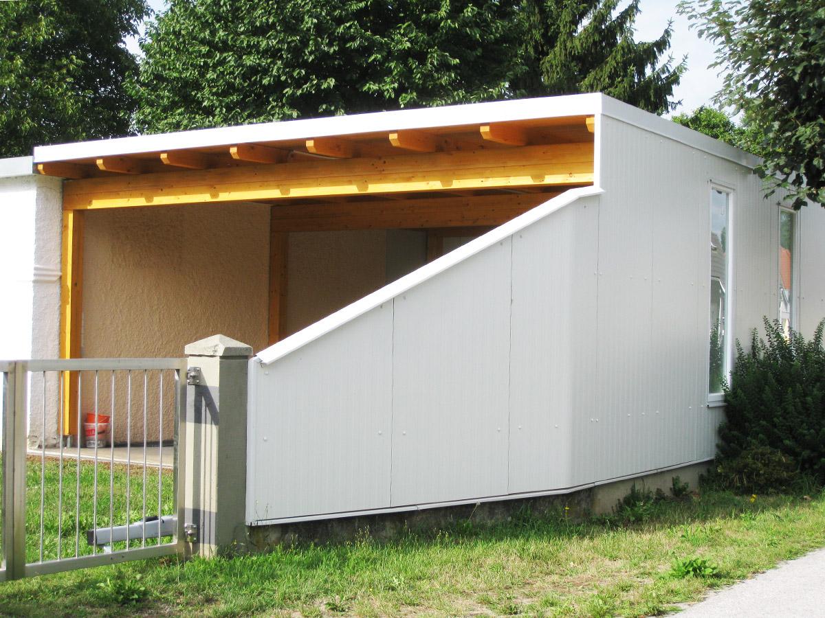 carport verkleiden nur eur qm inkl mwst with carport verkleiden projektnr with carport. Black Bedroom Furniture Sets. Home Design Ideas